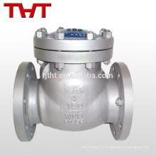 kits d'oscillation de cf8m / acier inoxydable vérifient le raccord de valve