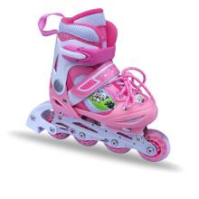 Розовый роликовый коньки