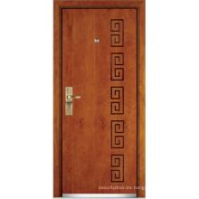 Puerta blindada de madera de acero (YF-G9006)