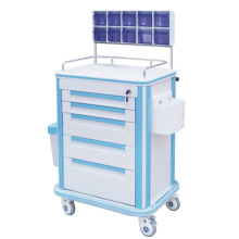 Stainless steel fence ABS anesthesia cart