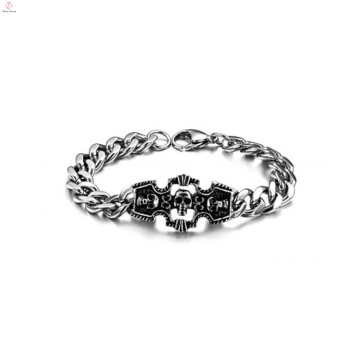 Luxus Schädel Armband, Edelstahl Armband Lieferanten, handgemachtes Armband