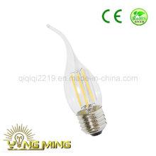 3.5W Ca35 Clear Dim E27 Tienda de luz LED Bombilla de filamento