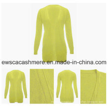 Bright Color Open Cashmere Cardigan Sweater