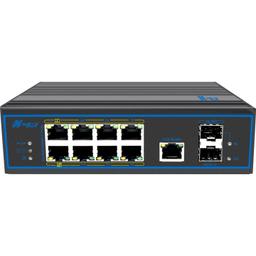 Industrial 10 ports managed PoE switch