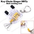 New Fishing Tool Bait Casting Reel Key Chain Zinger