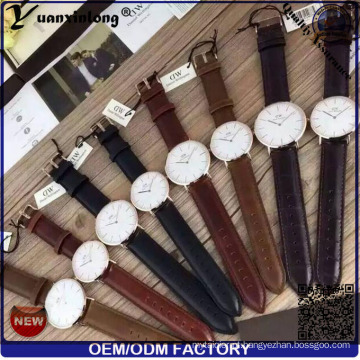 Homens de relógio YXL-659 2016 homens Moda Custom logotipo relógios por atacado, relógio de couro genuíno, couro