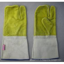 3 Палец Двойной Ладони Перчатки Сварочные Работы--6514