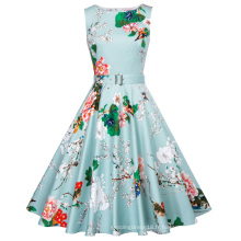 Belle Poque 40 Patterns Vêtements d'été Femmes Stock sans manches 50s 60s Robe Femme Pin Up Robe rétro Rockabilly BP000002-39
