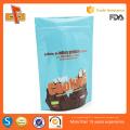 Emballage sur mesure de qualité alimentaire sacs en plastique à biscuits personnalisés avec fermeture à glissière