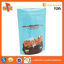 Food grade levantar-se embalagem personalizado bolinho sacos de plástico com fecho zip