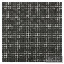 Mosaico de cristal preto mix para decoração de banheiro