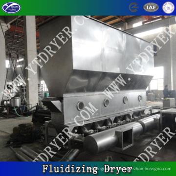 Venta caliente Horizontal secadora de fluidificación