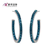 Xuping Fashion Cystals de lujo de Swarovski Elegant Jewelry Earring Hoop -E-117