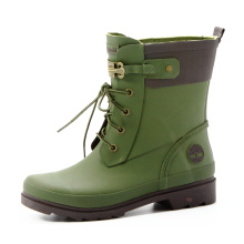 Green Army Rubber Rain Boots For Women Or Girls