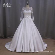 Тафта Ruched асимметричной скромный свадебное платье