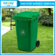 China Rechteckige Metallräder Bunte Outdoor Mülleimer