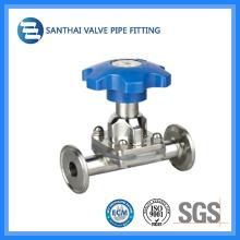 Válvula manual de diafragma de Santhai con extremo apretado