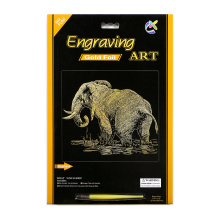 winsor and newton Paper Crafts of gold elephants