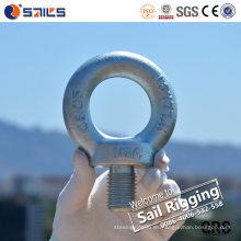 Perno de ojo forjado galvanizado eléctrico C15e DIN580