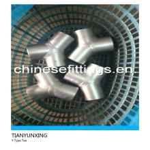 45deg Equal Y Type Stainless Steel Tee