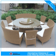 Garden Furniture Rattan Round Dining Table Set