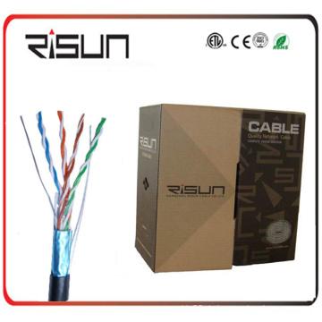 Kabel ETL gelistet 1000 FT. Cat5e FTP Solides Kupfer PVC