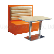 (SP-CT654) Modern Booth and Table Fast Food Restaurant Furniture