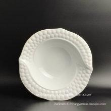 Plaque en céramique de gravure en forme ronde