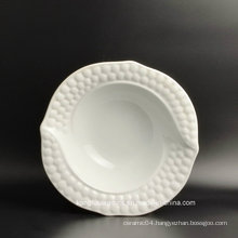Round Shape Embossment Ceramic Plate