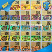 qr code anti-fake security tag sticker