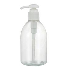 Botellas de leche de plástico transparente