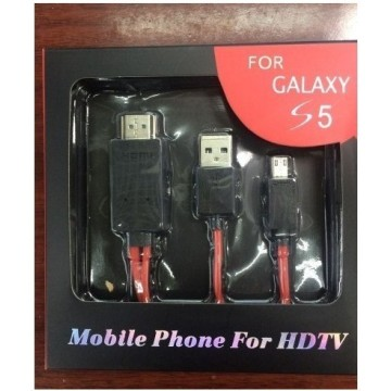 Câble adaptateur Mhl to HDMI pour Galaxy S5 S4 9500