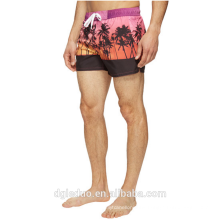 2017 Hot summer Wholesale high quality colorful abstract geo print swimsuit 100% polyester swim shorts men trunks
