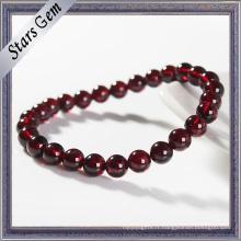 Bracelet en grenat naturel de 5 à 10 mm Garnet Beads