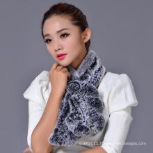 Lady Fashion Rex Rabbit Fur Big Winter Scarf (YKY4399)