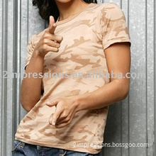 Lady's camouflage t shirt, military t shirt, army t-shirt