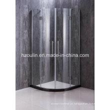 Cerco simples do chuveiro com dobradiça