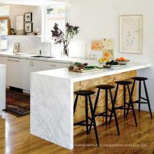 Île de table de cuisine, table de cuisine de surface solide d'Eco, île de cuisine en pierre acrylique