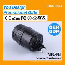 El mejor regalo de Navidad clipsal conectar rápido socket de superficie, regalo corporativo socket múltiple con 2 puertos usb