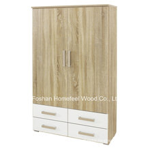 New Wooden Bedroom 2 Door Wardrobe with 4 Drawers (WB77)