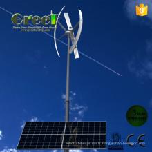 Système hybride vent solaire pour la maison et l'utilisation à la ferme
