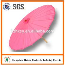 Mélangeant papier parapluie bambou menant de fabrication