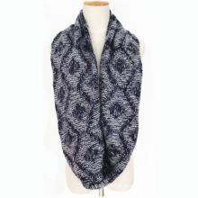Мужская шеи теплый толстый зимний Алмаз Printingknitted петли snood шарф (SK155)