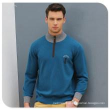 Suéter de malha de cashmere de algodão masculino
