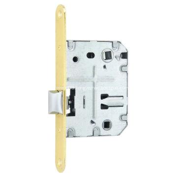 PE70 Spain door lock with steel forend striker zinc latch