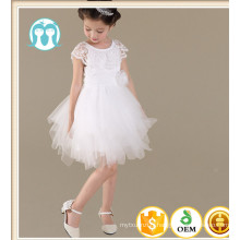 dernière conception de dentelle robe de soirée filles robe de mariage enfants portent