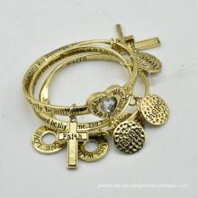 VAGULA plateado oro de la moda encantos pulsera Sets E10778