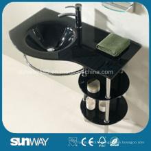 Meubles de salle de bain à lavabo en verre tempéré Hangzhou