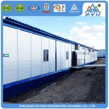 Baustelle über vorgelegtes Haus Stahlrahmen Container