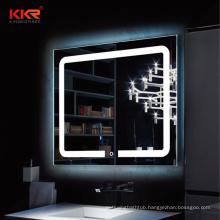 Custom Large Bathroom Led Light Mirror With Clock